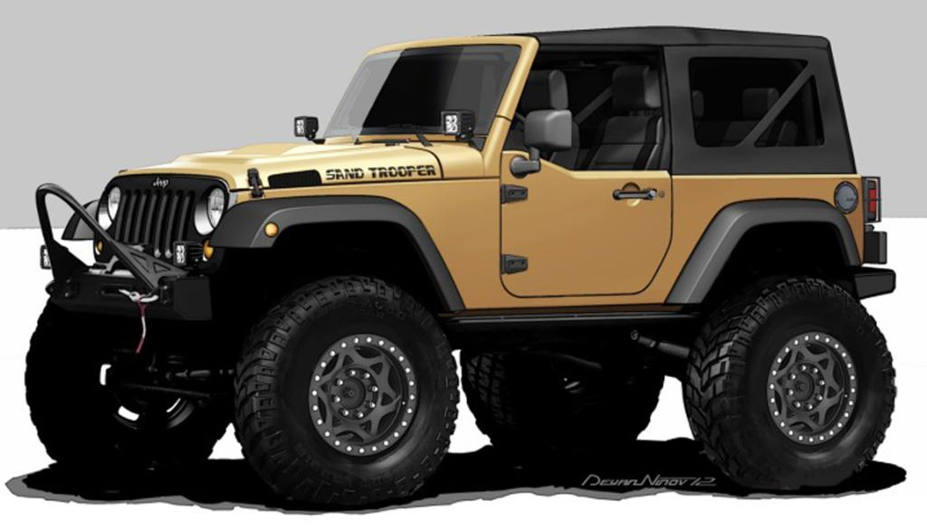 The Jeep Wrangler Sand Trooper for the 2012 SEMA show in Las Vegas.