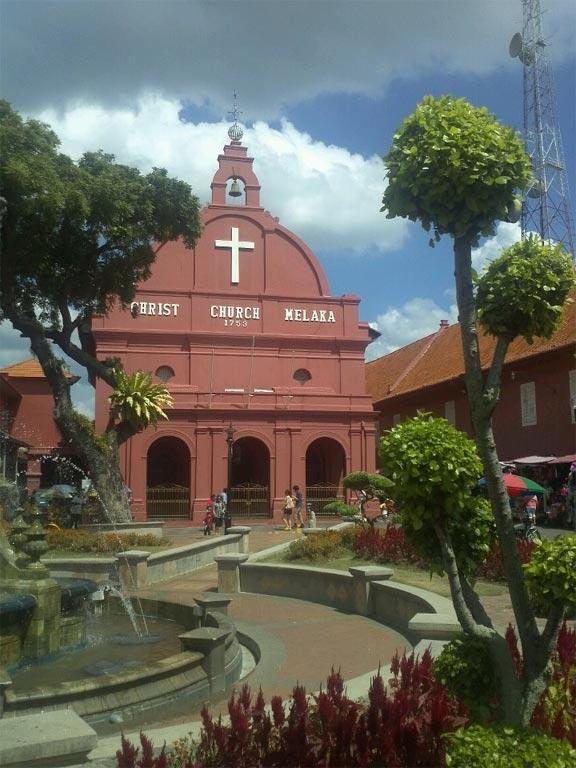 Christ Church in Malacca, Malaysia.