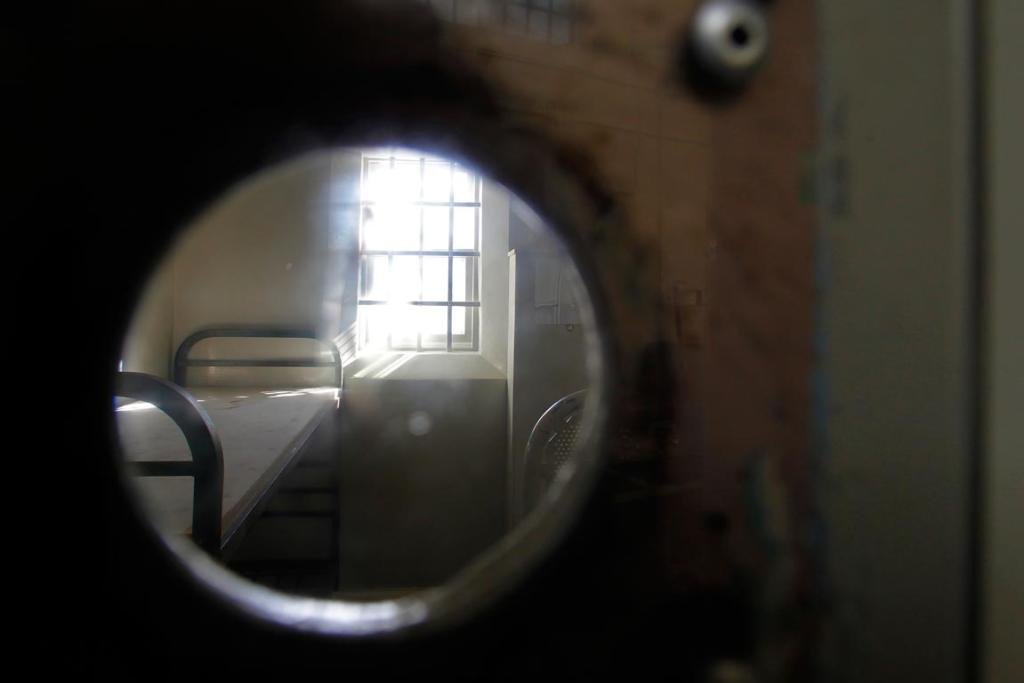 A peep hole into a cell.
