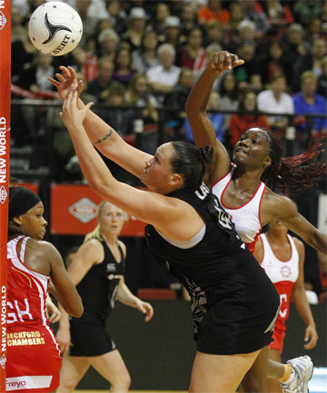 COMBINATIONS: Catherine Latu is likely to get plenty of game time for the Silver Ferns against South Africa.