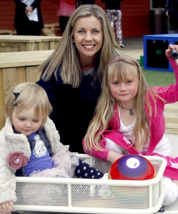 Fitzgerald, 1, with Tina Fitzgerald and Annabelle Smith, 7