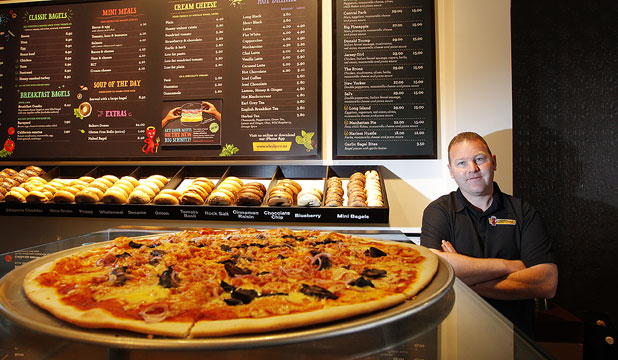 WELLINGTON FLAVOUR: Wholly Bagels & Pizza co-owner Colin Jones says the time is ripe for expanding the franchise to Auckland.