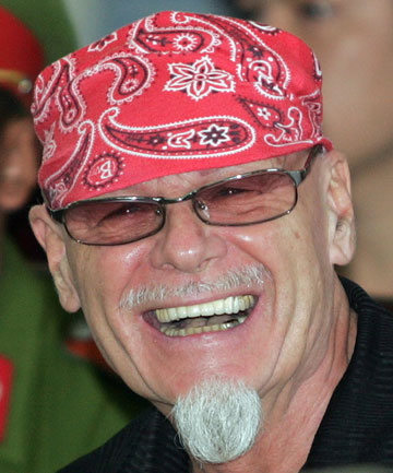ALL THAT GLITTERS: Gary Glitter, pictured here in Vietnam in 2006, has been arrested in connection with Jimmy Savile's alleged child sexual exploitation investigation.