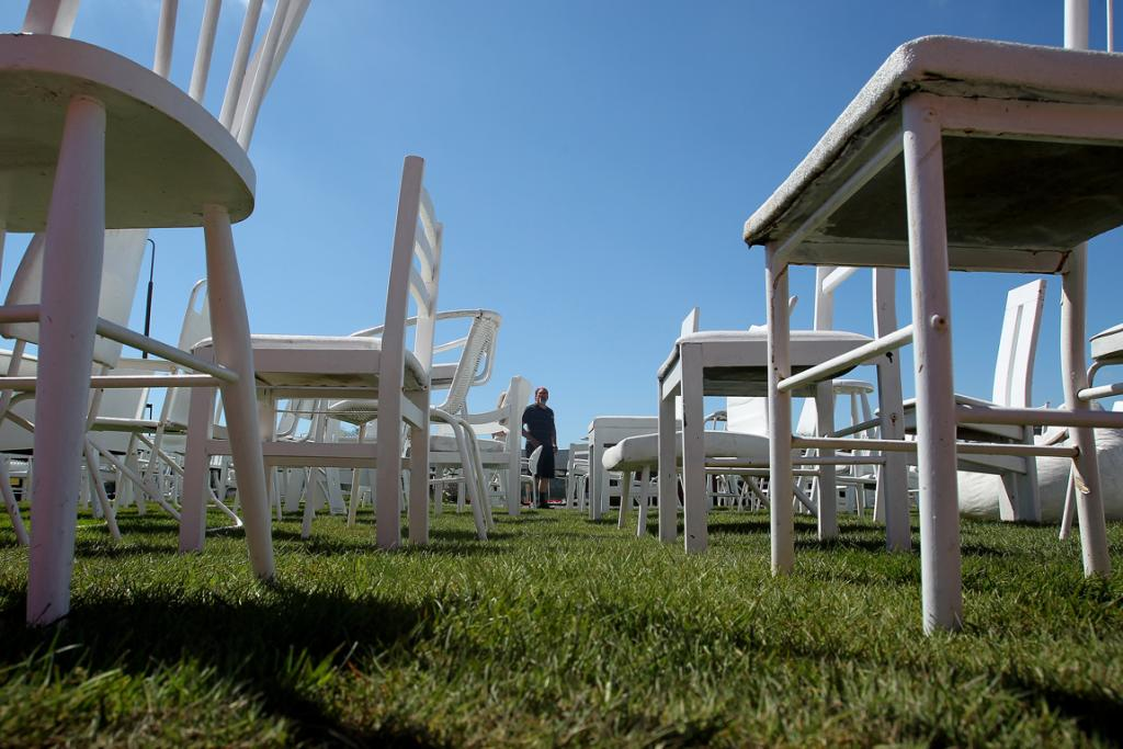 185 empty chairs moved for Ready lawn christchurch
