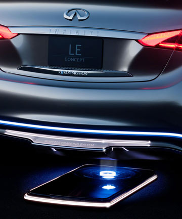 Nissan's luxury division, Infiniti, expects to be able offer park-over charging pads for its future electric and hybrid cars which would previously require complex plug-in systems.