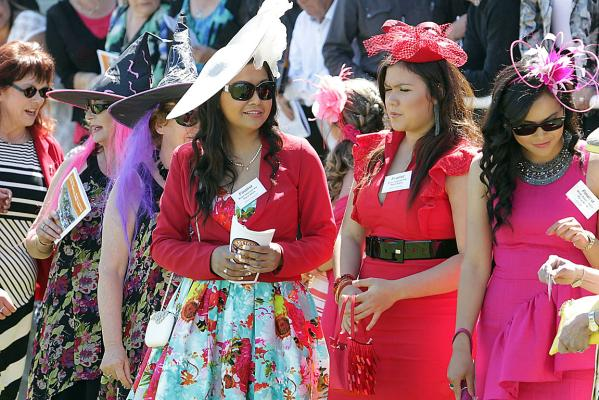 Hats at the Kaikoura races