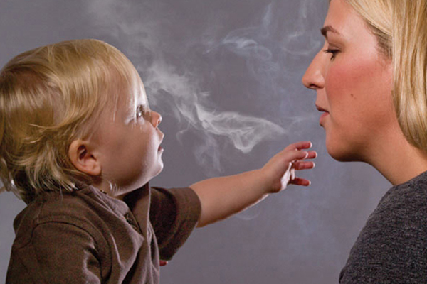 Danger: Respiratory pediatrian Philip Pattemore estimates his workload could be cut by 30 per cent if children were not exposed to cigarette smoke.