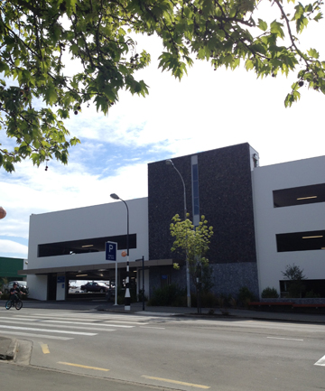 TRAFFIC JAM: A ticket dispenser caused a traffic hold-up at the Timaru District Council's Sophia St car parking building (Farmers carpark).