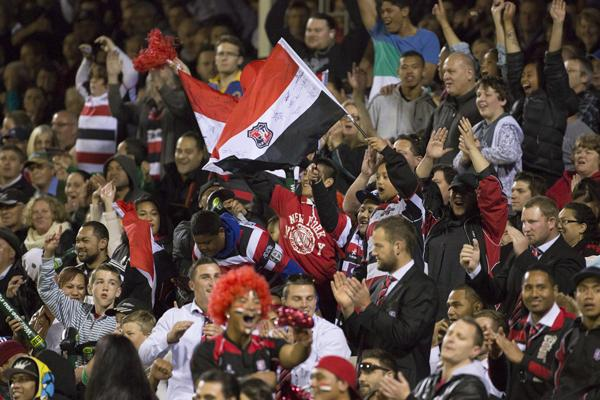 16th MAN: The crowd at ECOLight Stadium on Friday night was immense - both in numbers and volume.