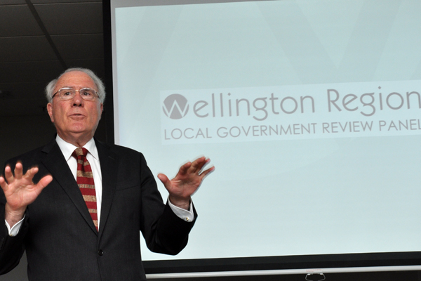 Change is in the air: Sir Geoffrey Palmer, who is leading the local governance review panel.