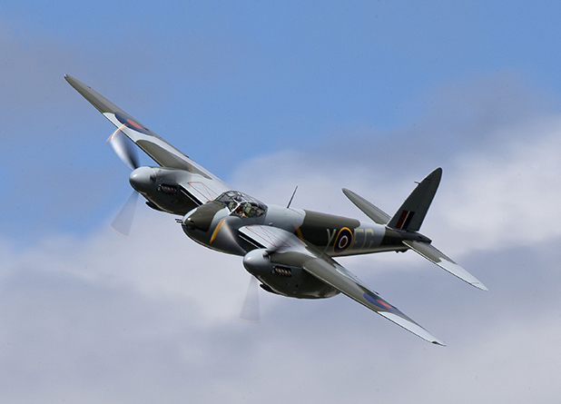 AIRBORNE LEGEND: This restored de Havilland Mosquito will overfly next week's Armistice in Cambridge event.