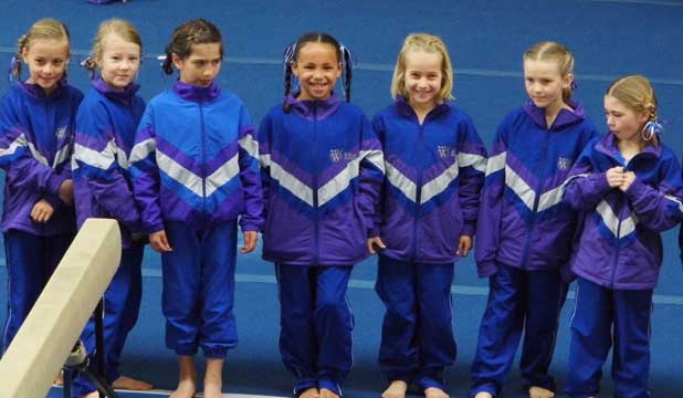 YOUNG PERFORMERS: The Waiheke Gymnastics Club level 0 team placed second at a competition in Waitakere.