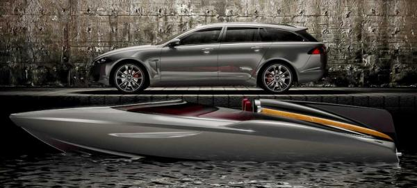 Jaguar's concept speedboat and the XF Sportbrake.