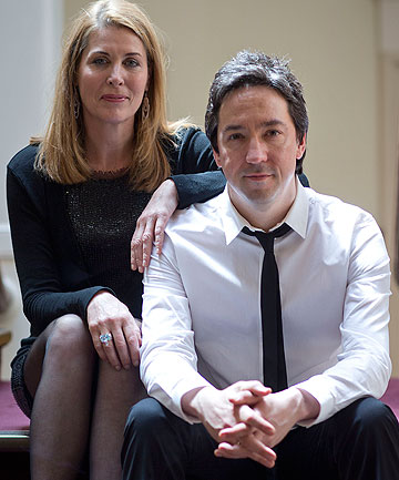 THE ROCKSTAR AND THE ACTRESS: John Toogood and Jennifer Ward-Lealand star in Silo Theatre's newest production, Brel.