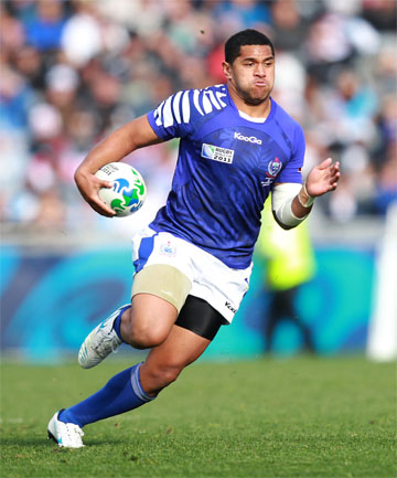 FOREIGN IMPORT: Jeremy Su'a in action for Samoa during the 2011 Rugby World Cup.