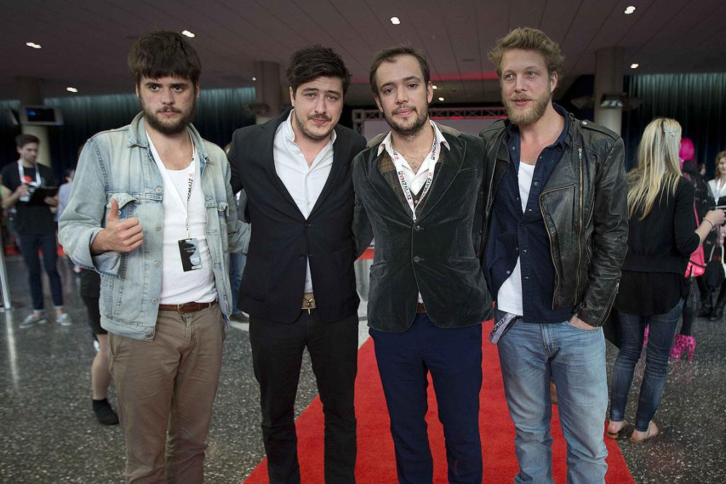 Mumford and Sons at the 2012 New Zealand Music Awards.