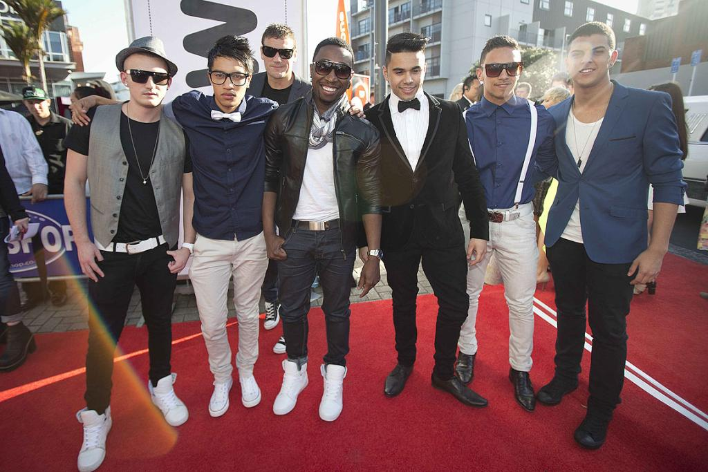 Boy band Titanium on the red carpet at the 2012 New Zealand Music Awards.
