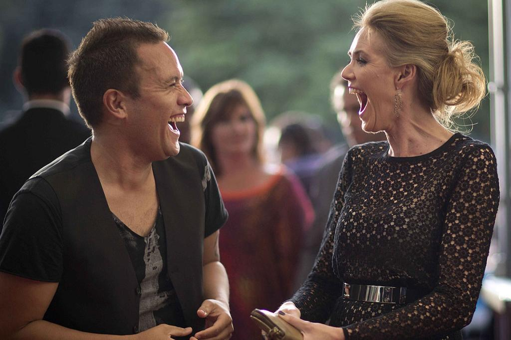 Tamati Coffey and Petra Bagust at the 2012 New Zealand Music Awards.
