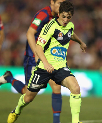 INSIDE RUNNING: Former Phoenix player Marco Rojas in action for the Victory.