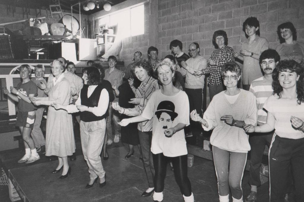 DANCERS: A note on this photo suggests it may be a rehearsal for a show. Were you in it? One commenter believes the location, left, to be the South Canterbury Drama League rehearsal space and guessed that it is a rehearsal of a musical production, but we're still seeking names and details.