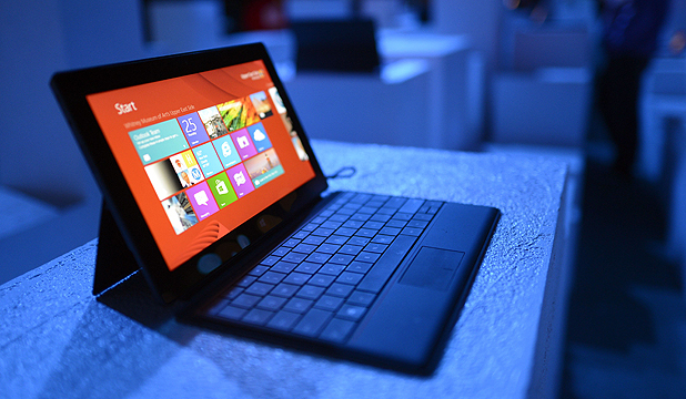 HANDS ON: Microsoft's first foray into the tablet market, the Surface.
