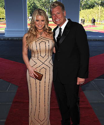 FATHER AND DAUGHTER: Joe and Jessica Simpson