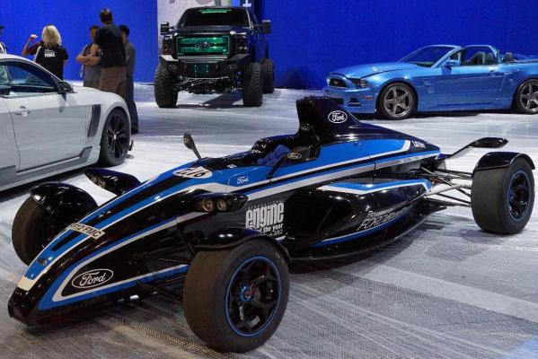 A Formula Ford 1-litre EcoBoost at the Sema Show in Las Vegas.