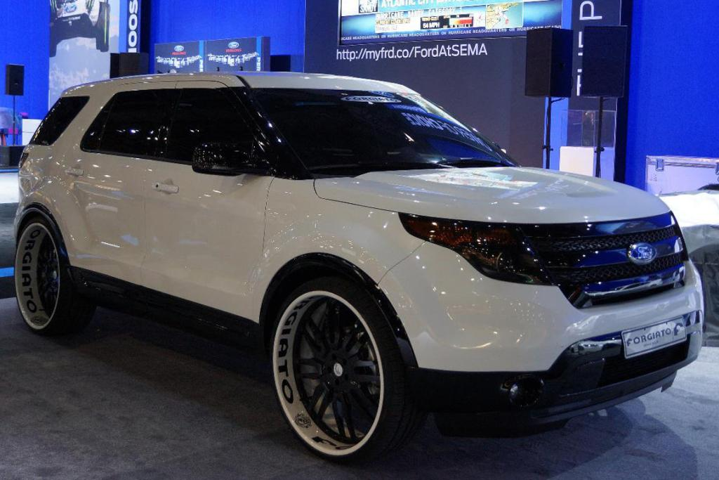 A Ford Explorer at the Sema Show in Las Vegas.