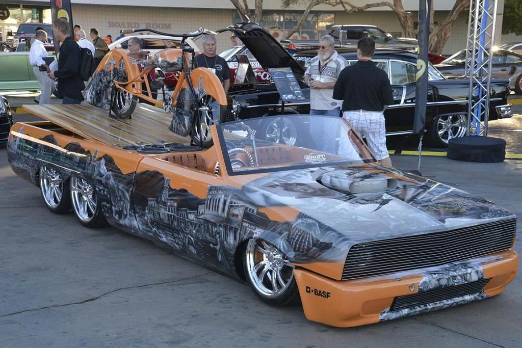 A creation at the Sema Show in Las Vegas.