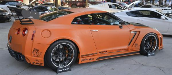 A Nissan GT-R at the Sema Show in Las Vegas.