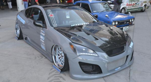 A Hyundai Genesis Coupe at the Sema Show in Las Vegas.
