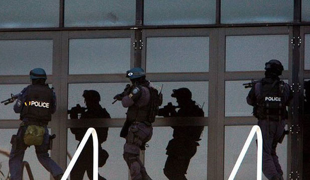 Police at siege