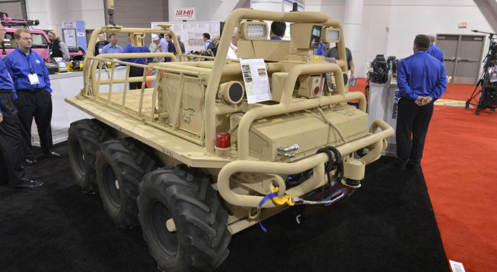 A Lockheed Martin Squad Mission Support System on display at the Sema Show in Las Vegas.