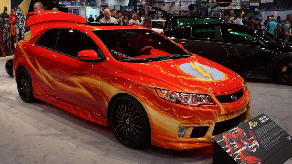 "The Kia ""Flash"" Forte Koup on display at the Sema Show in Las Vegas."