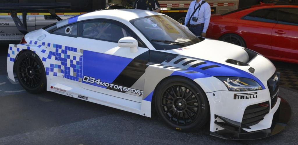 An Audi TT  on display at the Sema Show in Las Vegas.