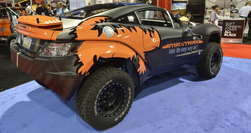 """A """"Rally Fighter""""  on display at the Sema Show in Las Vegas."""