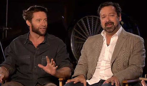 WORKING ON WOVERINE: Hugh Jackman and director James Mangold.