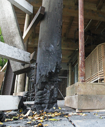 An arson tried to set fire to The Mill yesterday morning while youths slept rough nearby