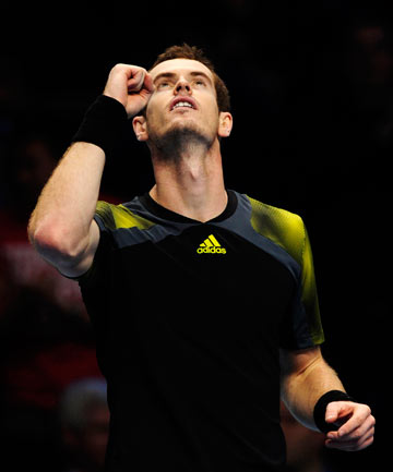 COMEBACK: A relieved Andy Murray overcame Tomas Berdych after losing the first set in his first match at the ATP Tour Finals in London.