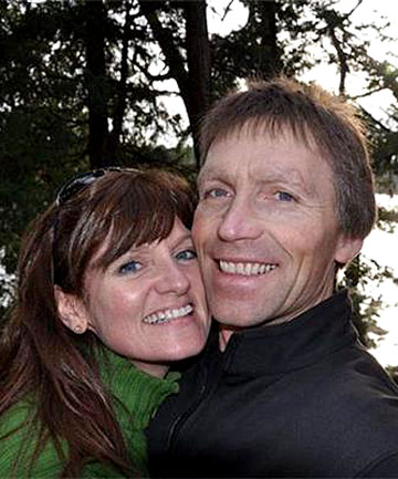 Glenn Hamilton with his partner Catherine Clarke