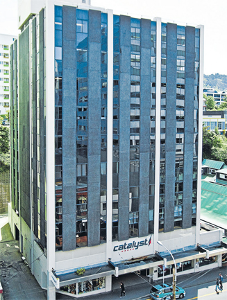 City block: Catalyst House in Willis St offers easy access to Wellington's CBD and is likely to attract a hands-off investor.