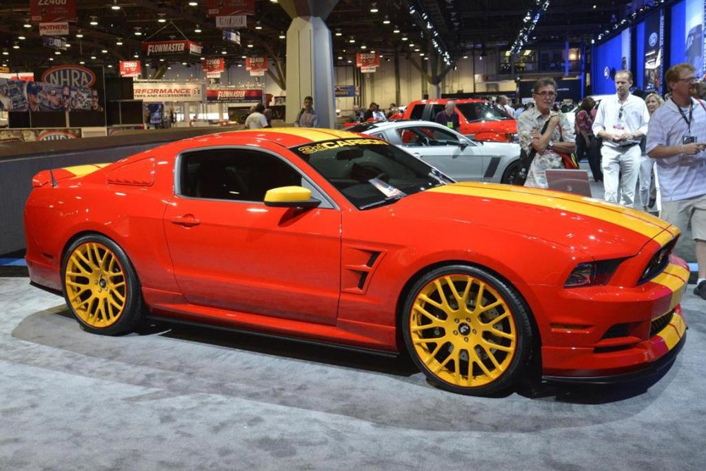 A Ford Mustang at the 2012 Sema Show in Las Vegas.
