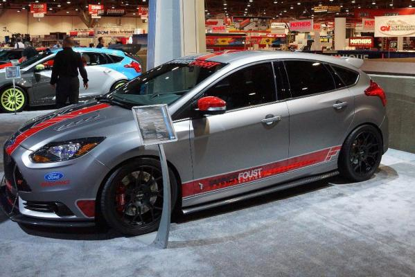 A Ford Focus ST at the 2012 Sema Show in Las Vegas.