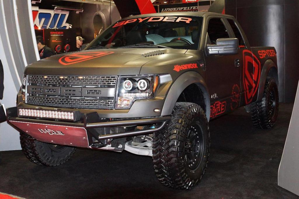 A Ford F-150 SVT Raptor at the 2012 Sema Show in Las Vegas.