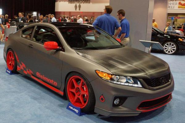 A Honda Accord Coupe at the 2012 Sema Show in Las Vegas.