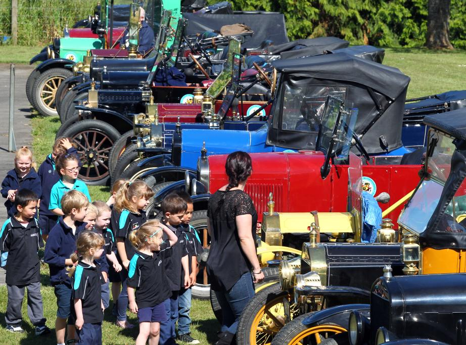 Model T Ford centenary re-enactment rally