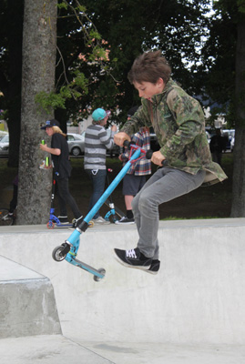 Official opening of the upgrade at the Matamata Rotary Skate Park.