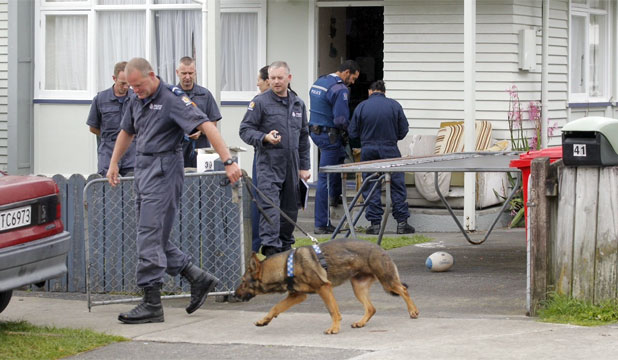 MORNING RAID: Police searched homes in the Hutt Valley as part of a sting on drugs.