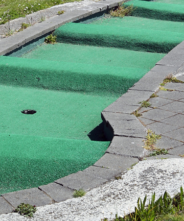 OFF PAR: The cost of a round of mini golf has gone up at Caroline Bay and some are not impressed with the grounds.