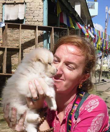 STREET DOGS: Karla Brodie is fundraising and helping projects that help sick and hungry dogs in places like Nepal.